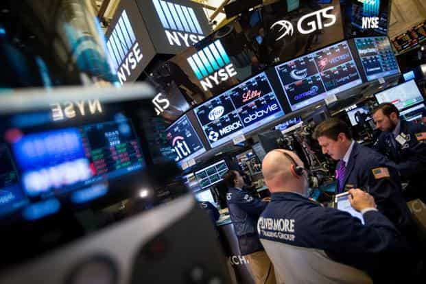 The Dow Jones Industrial Average rose past 21,000 for the firs time on Wednesday. Photo: Bloomberg