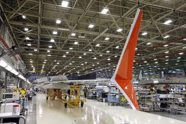 A file photo of Boeing 737 MAX winglets in Renton, Washington. Photo: AP