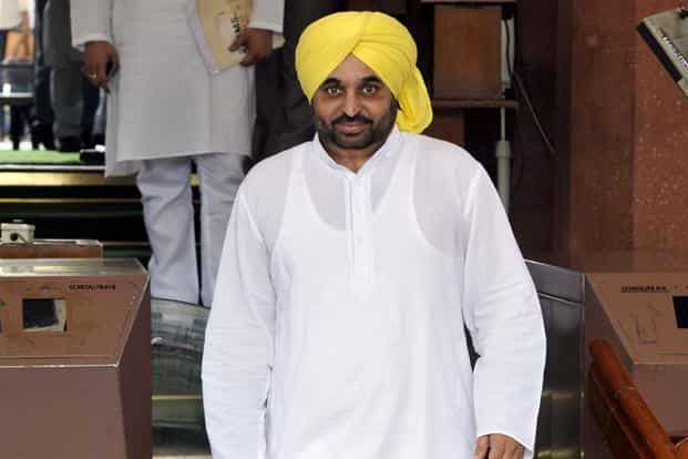 AAP leader Bhagwant Mann has been away from Parliament after he was suspended for the winter session for uploading a security detail video online. Photo: HT