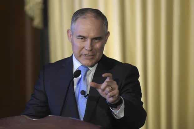Donald Trump's newly confirmed Environmental Protection Agency administrator Scott Pruitt said on Thursday he did not believe carbon dioxide was a major contributor to climate change. Photo: AP