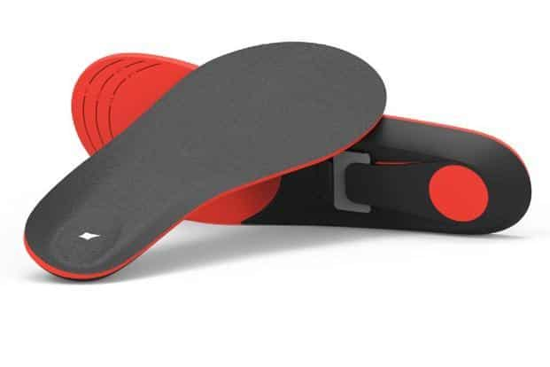 The insoles have a docking mechanism in which you can fit the pods—this is directly under the foot arch. You won't even realize the pods are there.