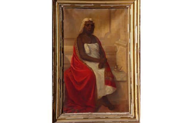 The portrait of 'Mahaprabha' represents the reality of the world that created the painter. Photo: Courtesy Jay Varma.