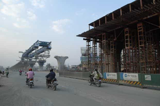State government spending on infra projects accounted for around 40% of government spending in the latest quarter. Photo: Mint