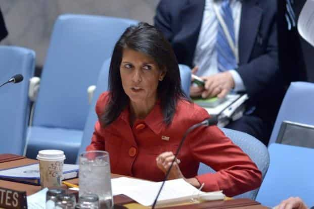 Nikki Haley, the US ambassador to the UN, has said that the Trump administration has reconsidered its previous position that regime change was not the necessary outcome of the Syrian civil war. Photo: AFP
