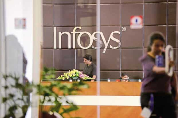 Despite three downward revisions in annual growth, Infosys could manage only a 8.3% full-year growth in constant currency terms, missing the  guidance of 8.4-8.8% made in January. Photo: Hemant Mishra/Mint