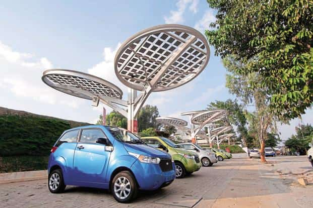 EV sales  in India grew by 37.5% to 22,000 units in the year ended 31 March 2016, according to Society of Manufacturers of Electric Vehicles. Photo: Bloomberg