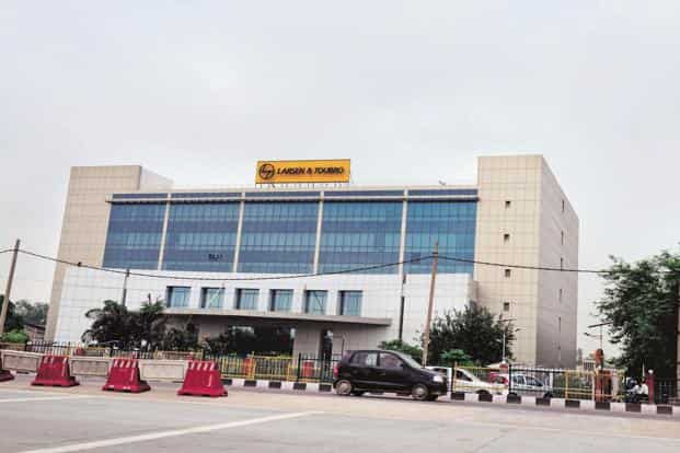 Shares of L&T were trading 0.71% higher at Rs1,693 apiece on BSE on Friday at 11.45am. Photo: Mint