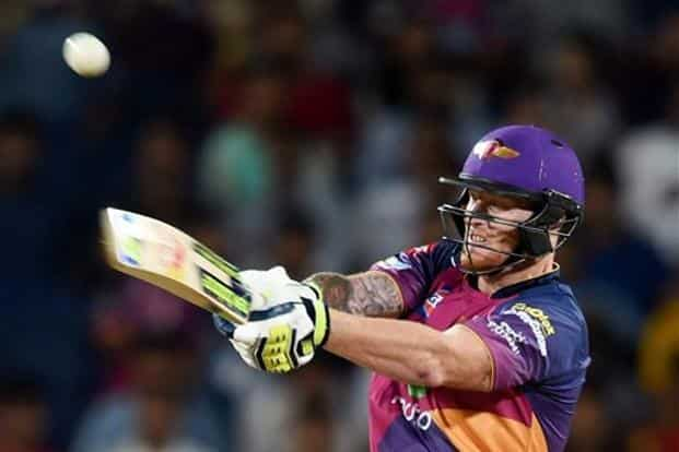 Coming to the crease with Supergiant reeling at 9-3 in the second over, Stokes swung around the game by sharing 76 runs with Mahendra Singh Dhoni (26) before cutting lose in the death overs. Photo: PTI