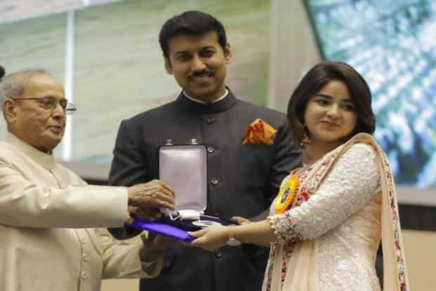 Zaira Wasim (right) won Best Supporting Actress for her role in 'Dangal'. AP