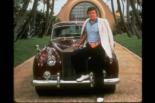 Image result for young trump rolls-royce