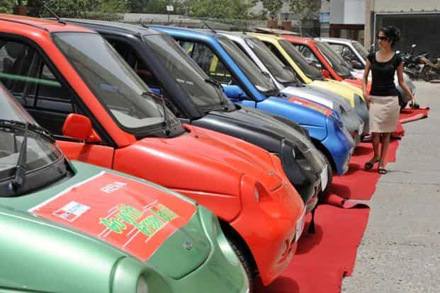 The government has an ambitious plan for a mass scale shift to electric vehicles by 2030 so that every vehicle on Indian roads by then—both personal and commercial—are powered by electricity. Photo: AFP