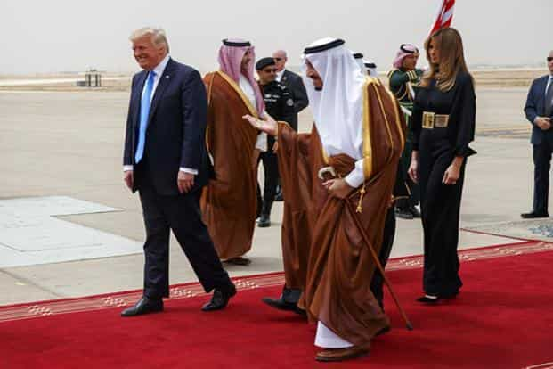 Abandoning some of the harsh anti-Muslim rhetoric during the presidential campaign, Donald Trump's draft of speech, envisions new partnerships with US's traditional allies in the Middle East. Photo: AP