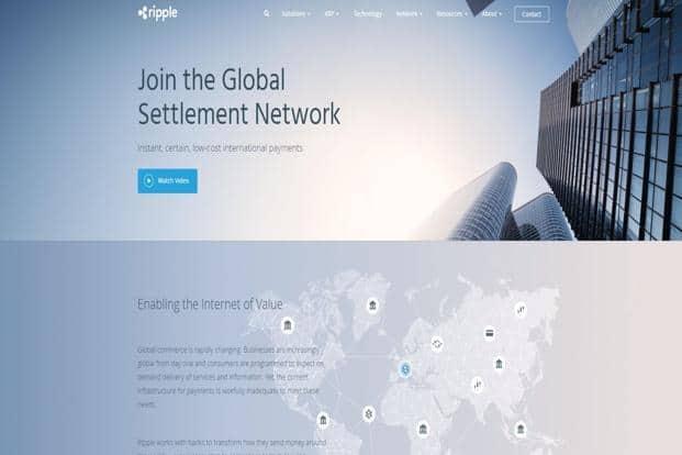 A screen grab of Ripple's website.