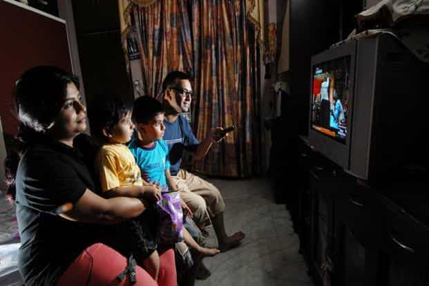 Of  total television viewership, the share of news in India was 7%, according to data for week 19 from television monitoring agency Barc India. Photo: Priyanka Parasher/Mint