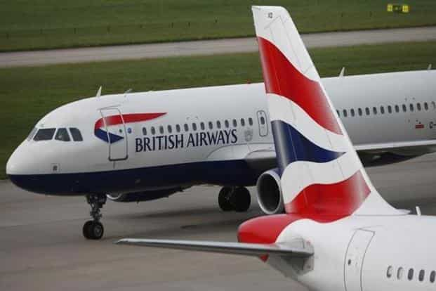 British Airways shares fell 3.8% and were down 2.9% at €6.81on Monday morning in Madrid trading. Photo: Neil Hall/Reuters