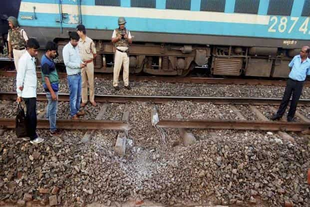 Maoists blew up a railway track between Chichaki-Karmabad stations in Giridih district of Jharkhand on Sunday midnight. Photo: PTI