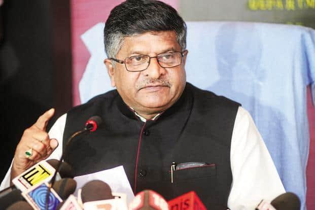 Union minister for electronics and IT Ravi Shankar Prasad. File photo: Mint