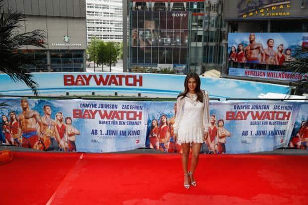 Actress Priyanka Chopra promotes Baywatch on Tuesday in Berlin. Photo: AFP