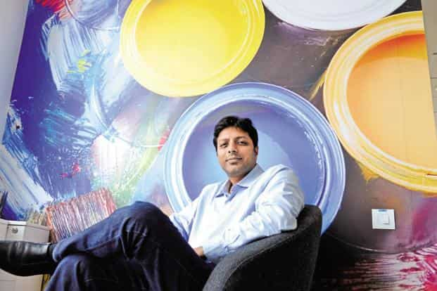 Amazon India boss Amit Agarwal. The e-commerce firm gives jobs to 60% of the students who do an internship with the company. Photo: Hemant Mishra/Mint
