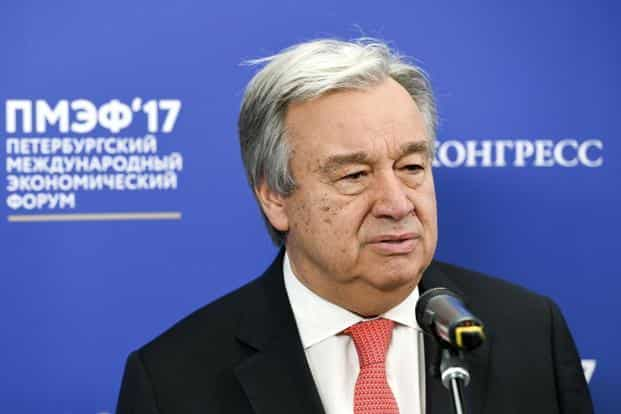 United Nations secretary general Antonio Guterres. Photo: AP