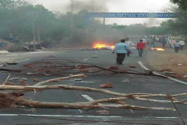 A scene after violent clashes between farmers and the police at Pipaliya of Mandsaur district in Madhya Pradesh. Photo: PTI