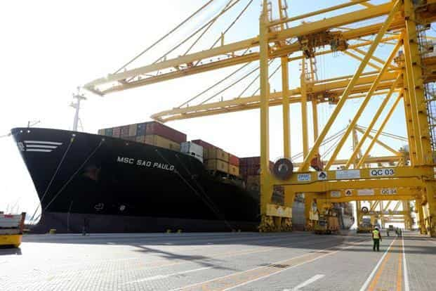 Officials at Hamad port say that the ongoing spat between Gulf countries and Qatar may even help the latter seal new transport deals that do not rely on Gulf neighbours. Photo: Karim Jaafar/AFP