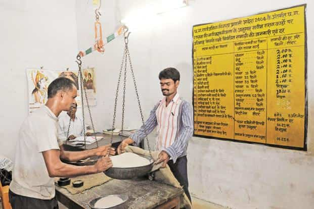 At present, the government supplies highly subsidised foodgrains at Rs1-3/kg to over 81 crore people in the country, costing the exchequer about Rs1.4 lakh crore annually. File photo: Hindustan Times