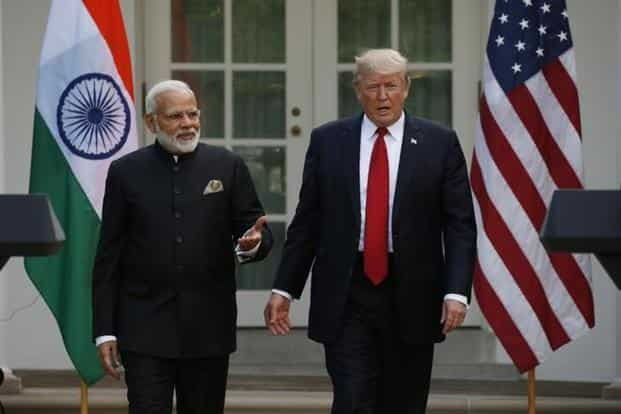 The camaraderie between Narendra Modi and Donald Trump was on full display as the two leaders heaped praise on each other. Photo: Reuters
