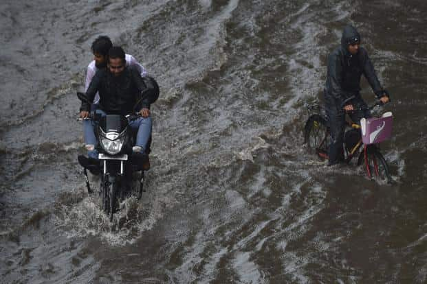 In the last 24 hours, suburban Mumbai and adjoining areas received more rainfall than the island city. Photo: AFP