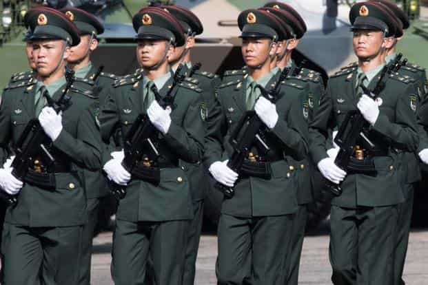A file photo of People's Liberation Army troops. Photo: Bloomberg