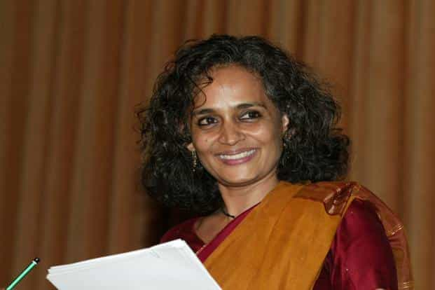 Arundhati Roy had expressed her views on the arrest of Saibaba in an article published in a weekly magazine last year. Photo:  AFP