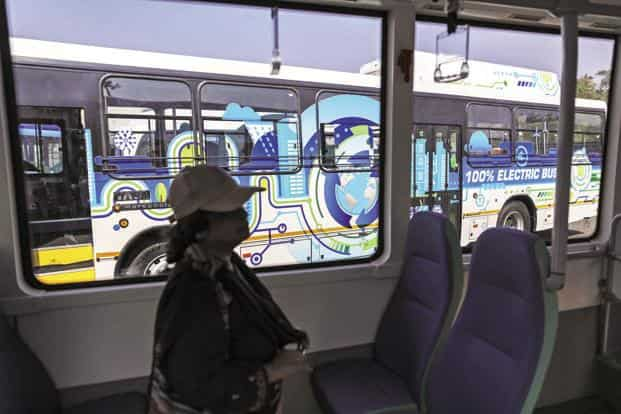 As compared to ordinary buses, each electric bus would help save about 4.25 lakh litres of diesel and reduce carbon emissions by 1,150 tonnes in 10 years of operation. Photo: Bloomberg