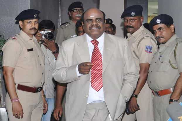 Former Calcutta high court judge justice C.S. Karnan has been sentenced to six-month imprisonment for contempt of court. Photo: AFP