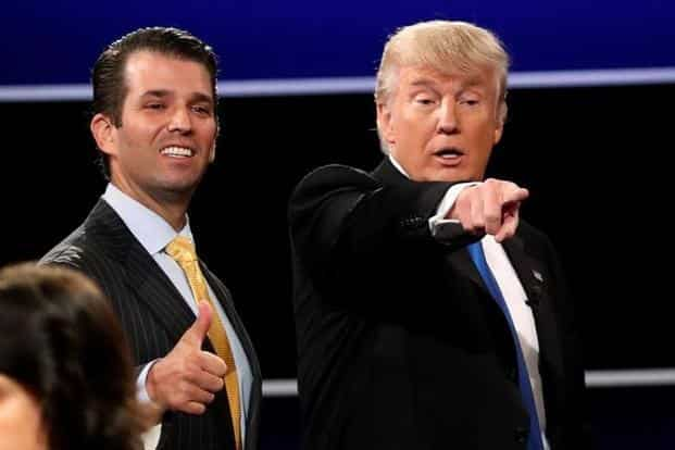 Donald Trump Jr. released a series of emails on Tuesday that revealed he had eagerly agreed to meet a woman he was told was a Russian government lawyer. Photo: Reuters