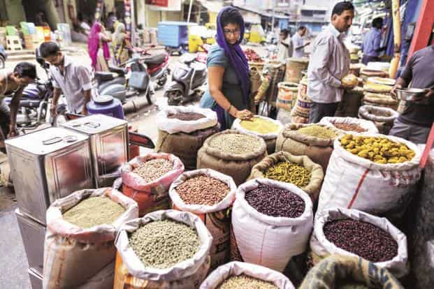 Retail inflation in June slumped to a record-low of 1.5% and indutrial growth came in at 1.7% in May, pointing to a slowdown in the Indian Economy due to demonetisation and GST. Photo: Bloomberg