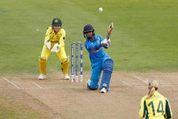 India's Mithali Raj in action during her record-breaking innings against Australia in Bristol. Photo: Reuters