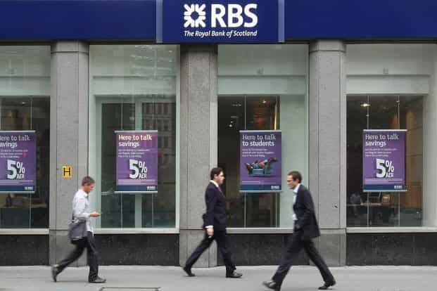 RBS still has about $3.7 billion put aside to resolve lawsuits over mortgage-backed securities, packaged and sold before the US housing meltdown and financial crisis in 2008.Photo: Bloomberg