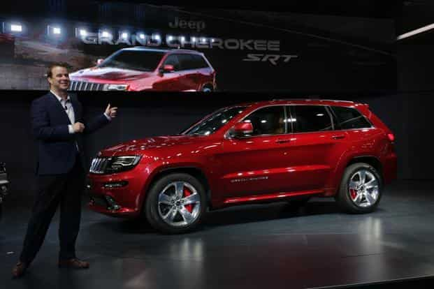 Fiat Chrysler Automobile India has reduced the price of Grand Cherokee SRT by Rs5 lakh to Rs1.07 crore. Photo: AP