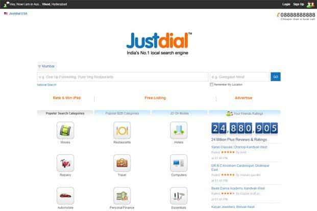 At NSE, shares of Justdial went up sharply by 6.65% to end at Rs 378.05.