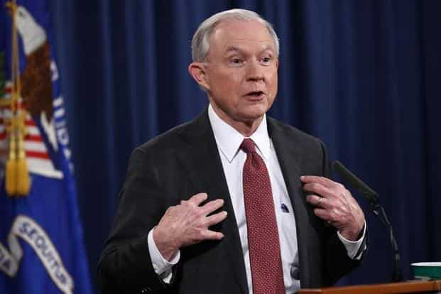 US President Donald Trump remains furious that attorney general Jeff Sessions recused himself from the probe into possible collusion of the Trump campaign with Russia during the 2016 US elections. Photo: AFP