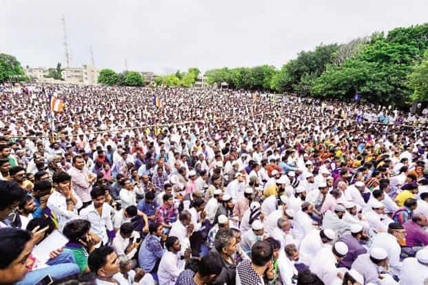 A file photo of a Dalit protest rally in Una. Photo: Mint