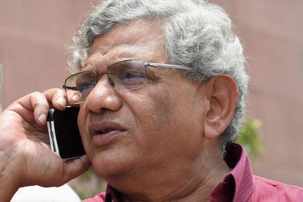 CPM leader Sitaram Yechury is a two-time Rajya Sabha member from West Bengal. Photo: PTI