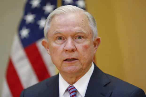 A file photo of US attorney general Jeff Sessions. Photo: AP