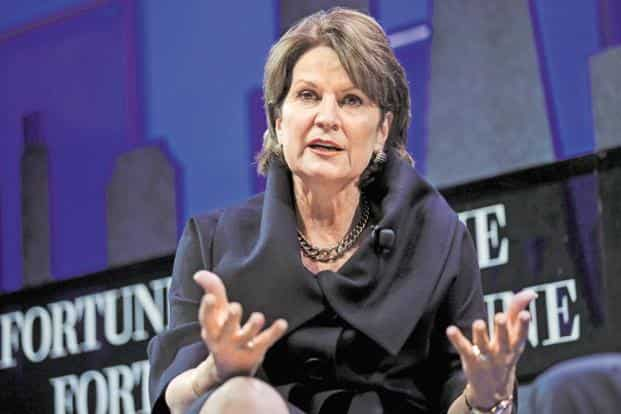 Lockheed Martin chairman and CEO Marillyn Hewson. Lockheed Martin has tied up with Tata Advanced Systems to bid for India's $12 billion fighter jet deal, where it is competing with Gripen jets made by SAAB. Photo: Reuters