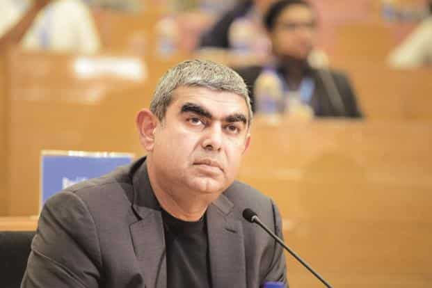 Infosys CEO Vishal Sikka. The EdgeVerve business, which includes Infosys's core banking platform Finacle, accounted for $143.1 million, or 5.4%, of Infosys's $2.65 billion revenue in the June quarter. Photo: Hemant Mishra/Mint