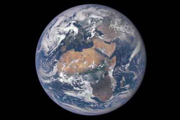 Greenhouse gas emissions from burning coal, oil and gas make up 60% of mankind's ecological 'footprint' on the planet. Photo: AFP/Nasa