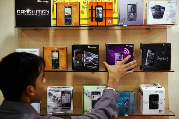 In 2016, two out of every three mobile phone sold in India were produced locally. Photo: AFP
