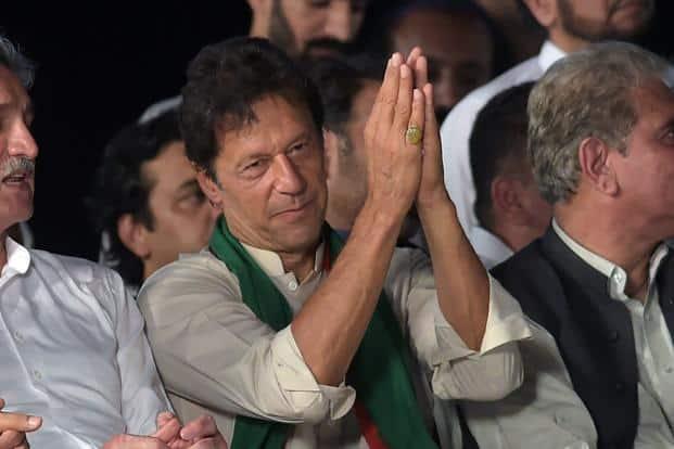 A file photo of  former cricketer and Pakistan Tehreek-e-Insaf  leader Imran Khan. Photo: AFP