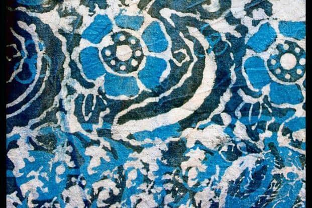 Indian indigo batik.