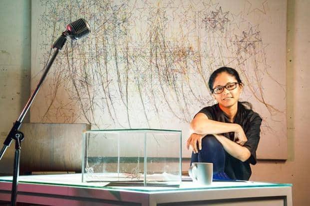 Shilpa Gupta in her studio. Photo: Aniruddha Chowdhury/Mint